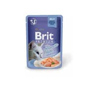 Brit Premium Cat D Fillets in Jelly with Salmon 85g