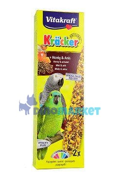 Vitakraft Bird Kräcker  honey African  parrot tyč 2ks